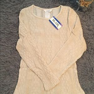 Blair Boutique Long Sleeve Top Cream Size L